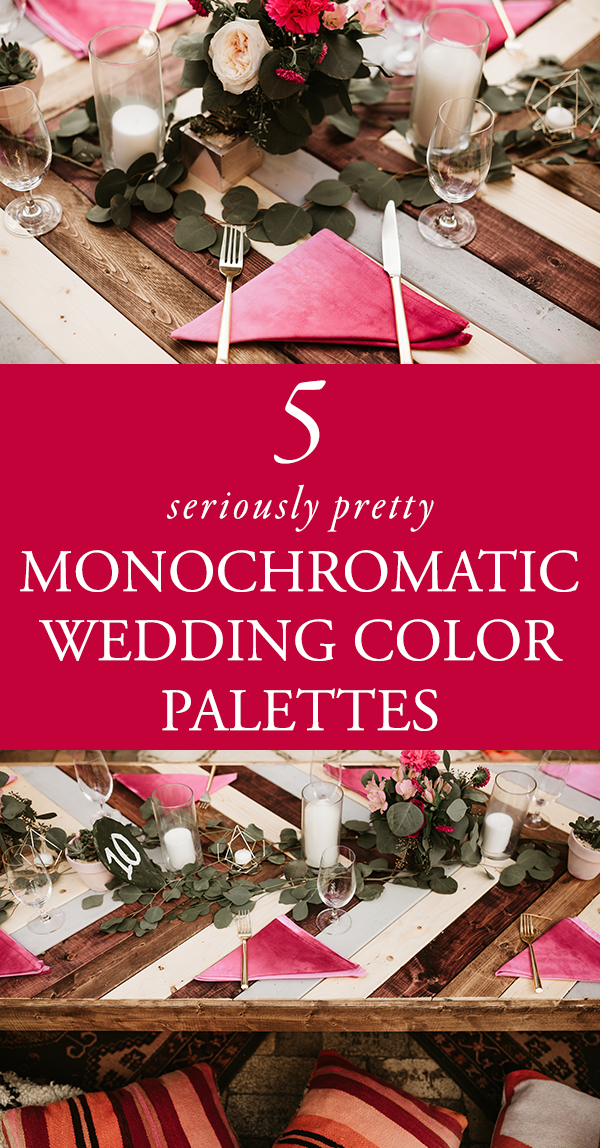 Wedding colors wedding blog posts archives junebug weddings if theres one wedding detail we constantly change our minds about its color palettes with so many colors to choose from creating a cohesive palette junglespirit Gallery
