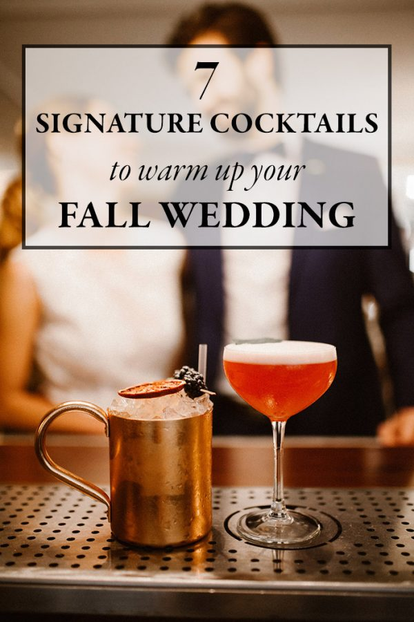 Nov 16,  · Chilly fall weather is the perfect excuse to create spiced nutmeg-, pumpkin- and maple-infused signature cocktails for your wedding. But don't think you have to save these recipes just for your wedding day—they're sure to be crowd-pleasers whether served at your shower, rehearsal dinner, or bachelor or bachelorette party.