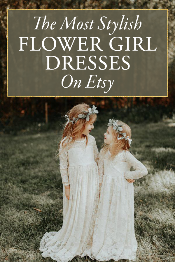 The Most Stylish Etsy Flower Girl Dresses