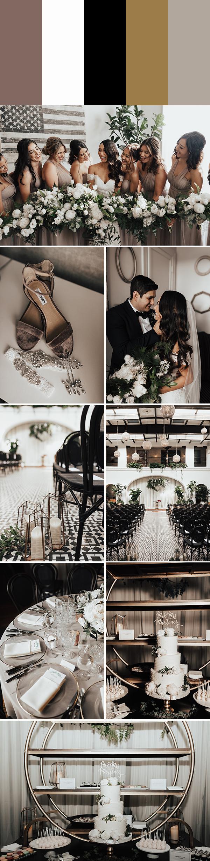 6 Metallic Wedding Color Palettes That Dazzle and Shine | Junebug ...