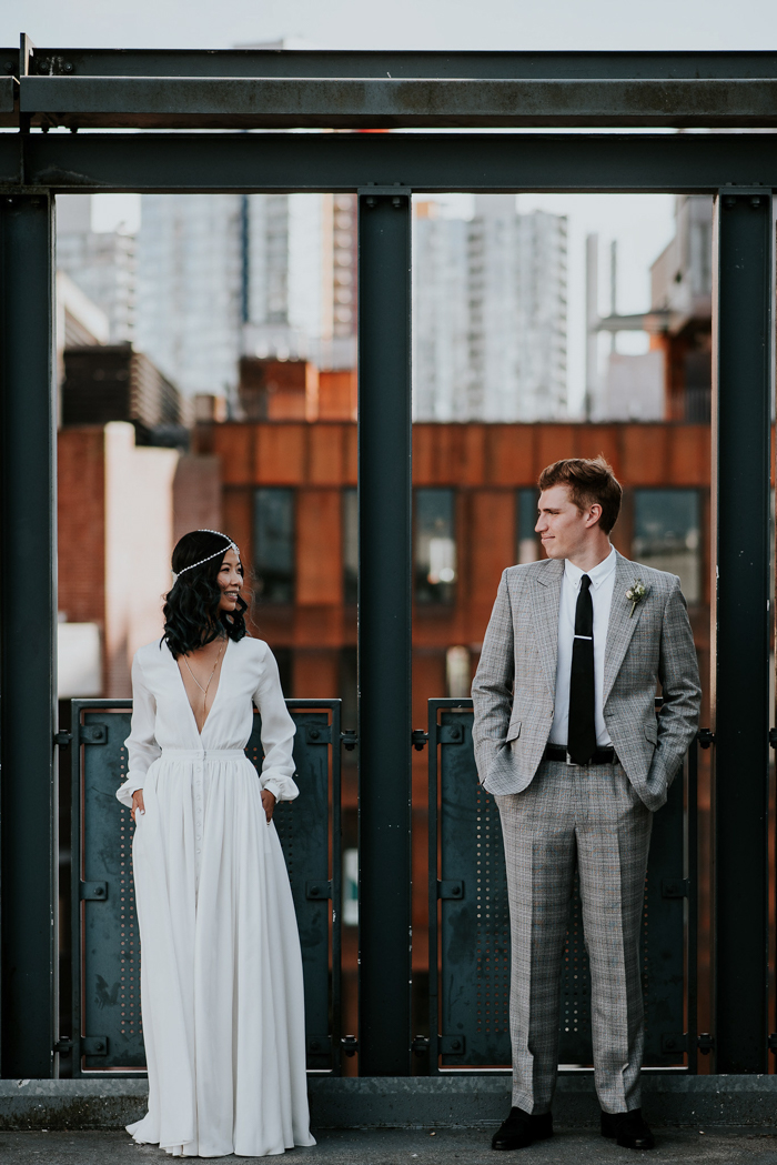 55886529e7a  70s Inspired Vancouver Wedding at The Permanent