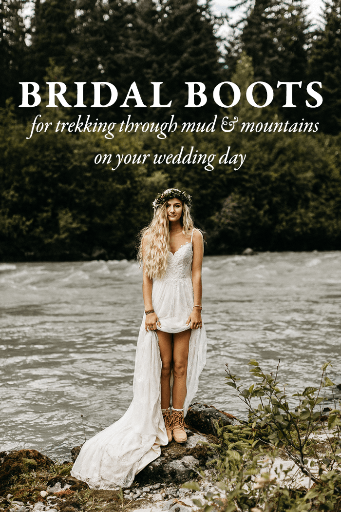 Bridal Boots For Trekking Through Mud And Mountains On Your