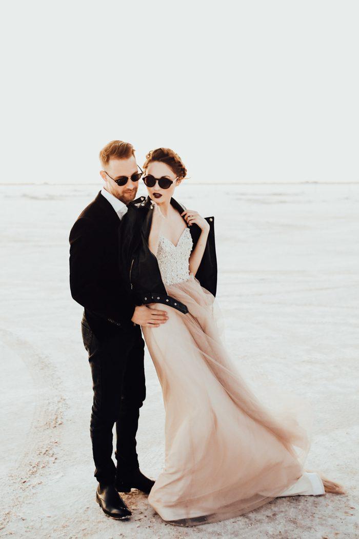 Edgy High-Fashion Wedding Inspiration At Great Salt Plains