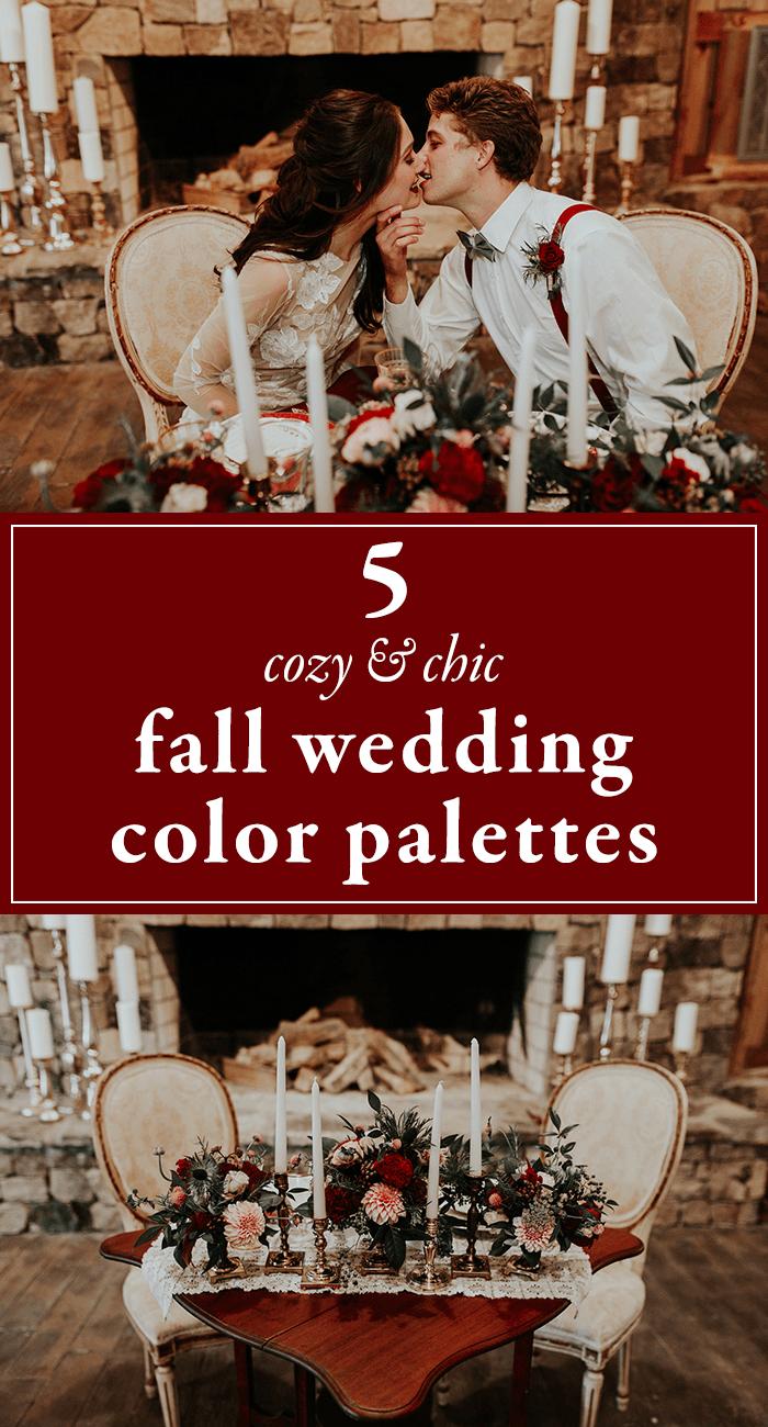 5 Cozy Chic Fall Wedding Color Palettes | Junebug Weddings