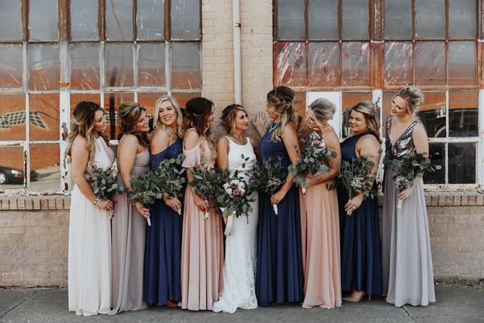 Modern Mixed Metal Tulsa Wedding At Pearl District