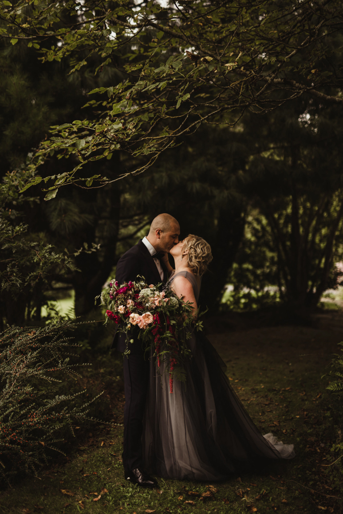 Nontraditional Irish Wedding at Mount Juliet Estate with a Gothic Twist