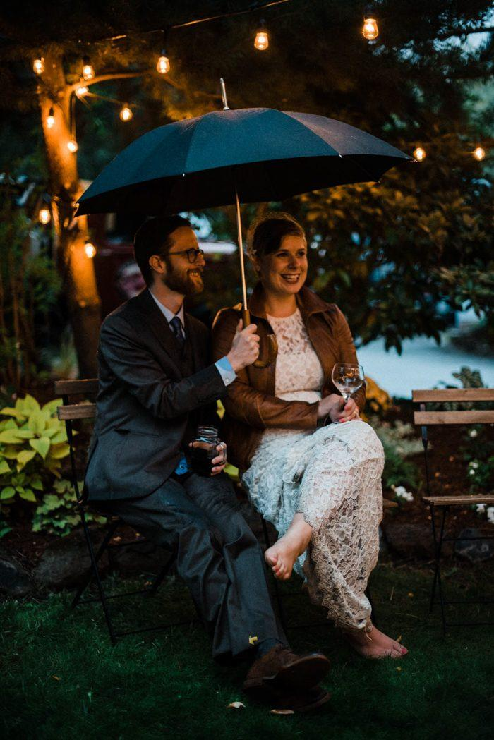 This Couple DIYed Their Portland Wedding At Home From The