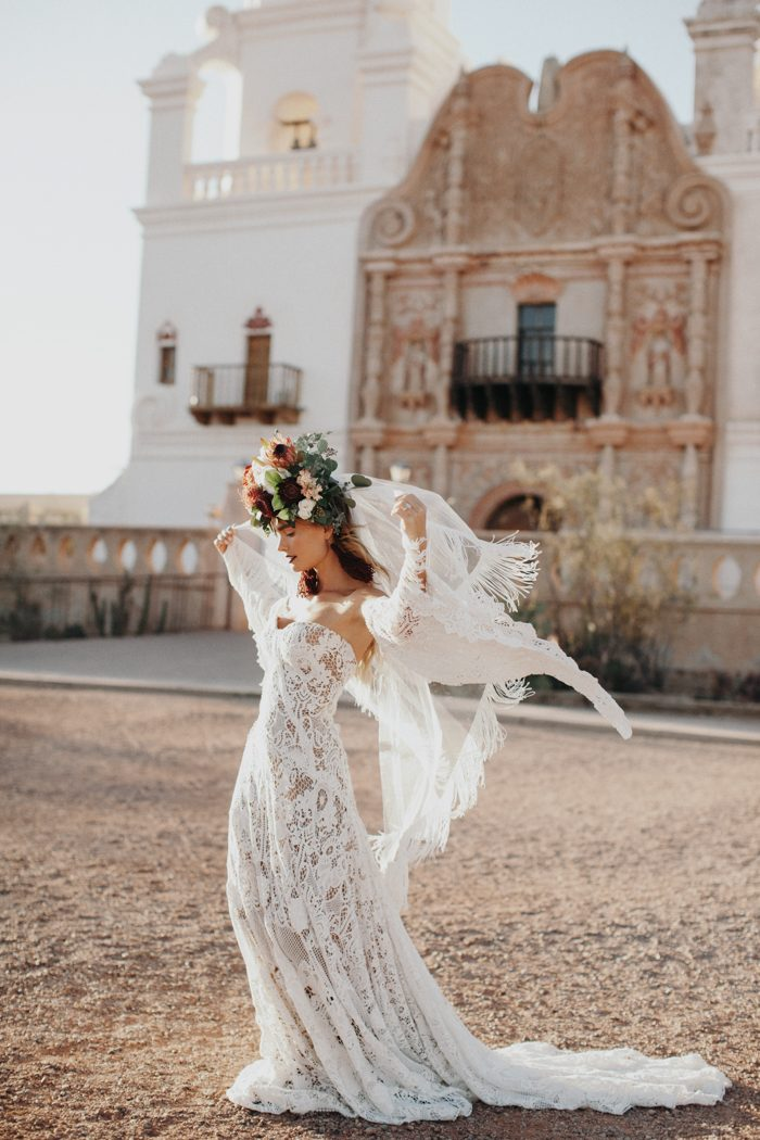 This Wedding Inspiration At San Xavier Del Bac Is The