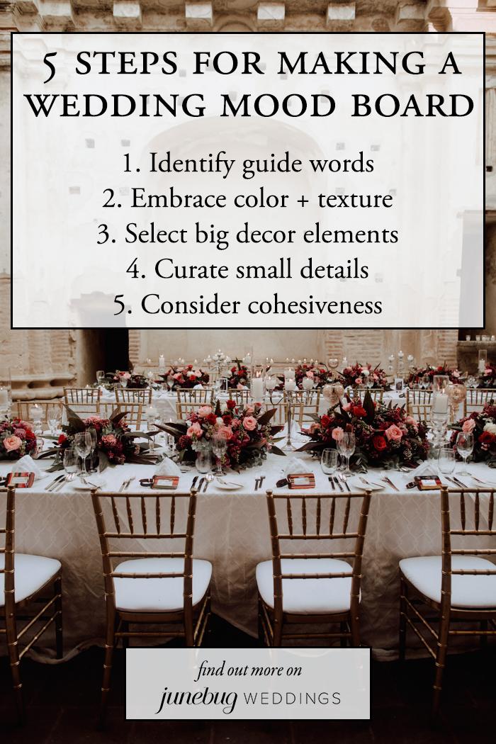 5 Steps for Making a Wedding Mood Board | Junebug Weddings