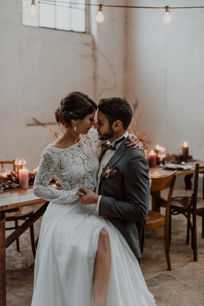 Burgundy And Black Fall Wedding Inspiration At Papiermuhle Homburg