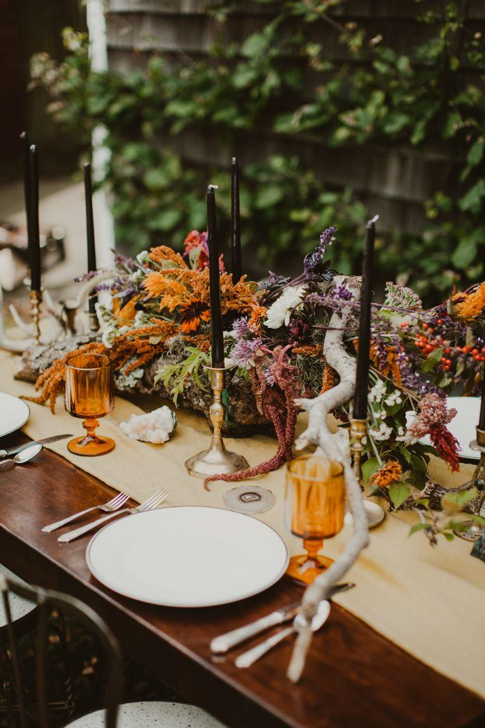 Wedding blog for real wedding ideas inspiration junebug weddings sustainable family operated flower farm from the weathered branch table runner to the rustic grapes and wheat topping the elegant wedding cake junglespirit Choice Image