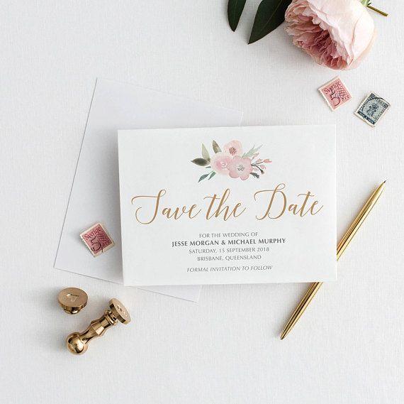 Botanical Save The Date Printable