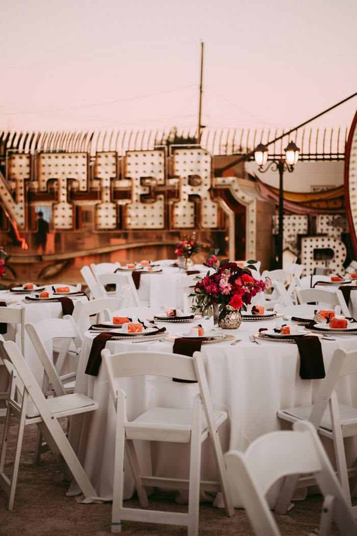 A Las Vegas Neon Museum Wedding Full Of Quirk Color And Charm