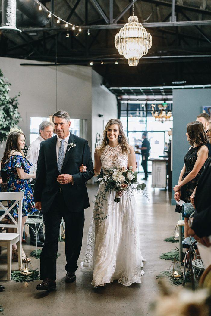 Natural Industrial Soho South Cafe Wedding in Savannah, GA | Junebug ...