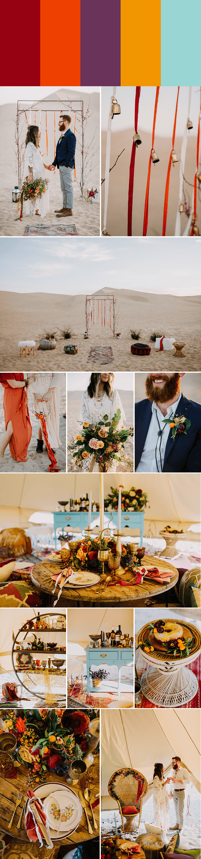 Bohemian Wedding Color Palettes That Really Set The Tone Junebug