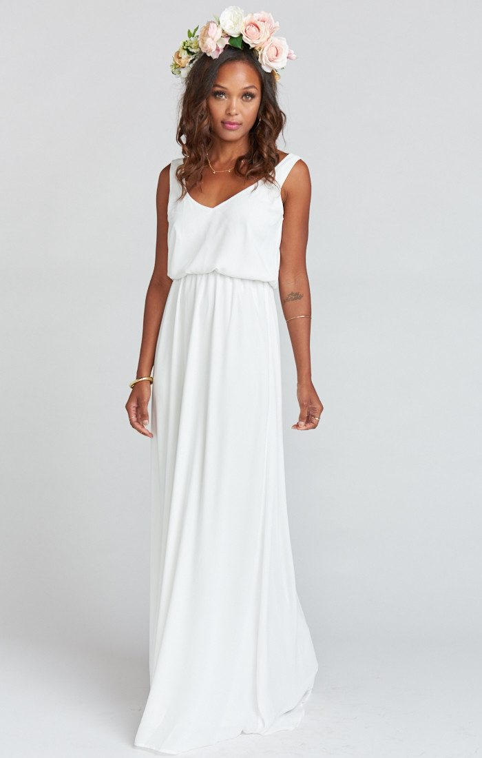 These Neutral Bridesmaids Dresses are Subtle Showstoppers | Junebug ...
