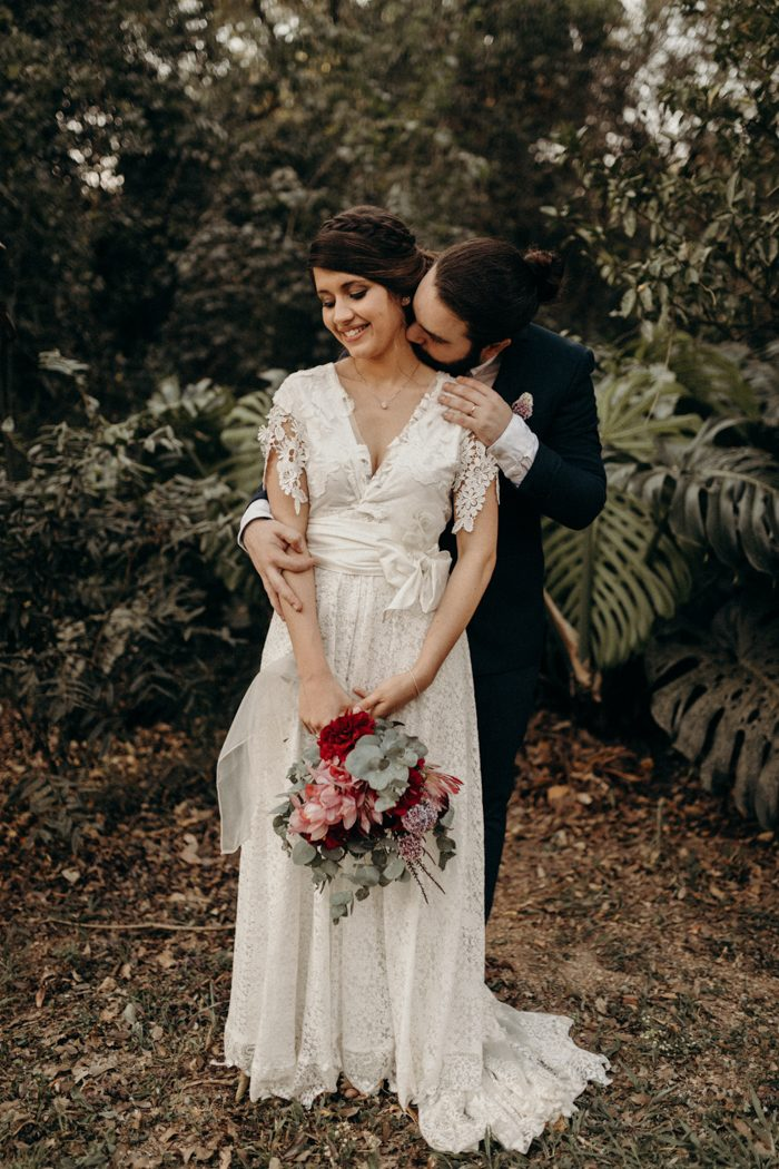 We Chose The Colors To Combine With Our Boho Wedding Style Burgundy Green Red And Pink
