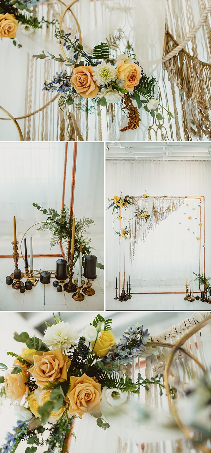 This Celestial Sun and Moon Wedding Inspiration is Out of This World ...