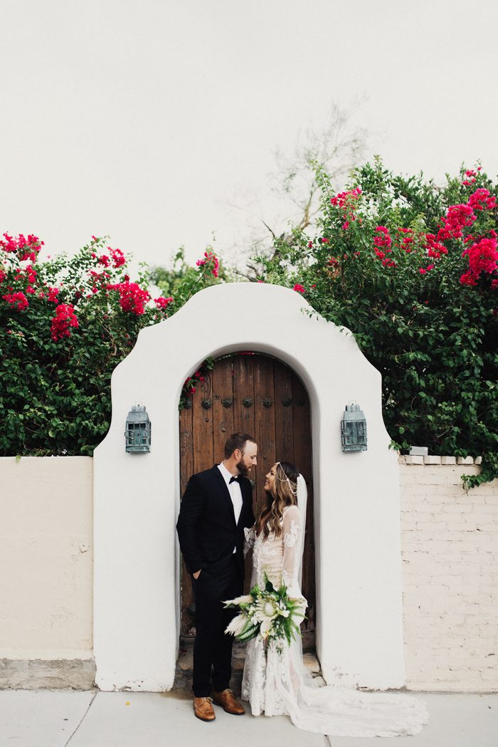 Paulina And Ryan S Wedding At Casa Cody Has Major Moroccan Tropical Vibes With Macramé Fringe Details Throughout The We Re Talking