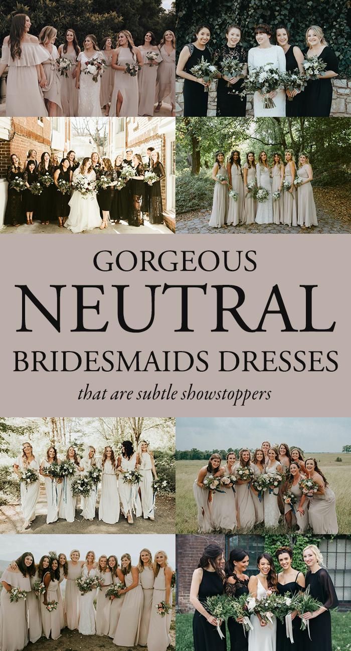 These neutral bridesmaids dresses are subtle showstoppers these neutral bridesmaids dresses are subtle showstoppers ombrellifo Images