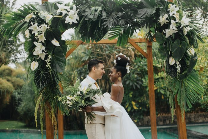 Tropical Fruit Platter For A Beach Wedding: This Seseh Beach Villas Wedding Is A Vision Of Tropical