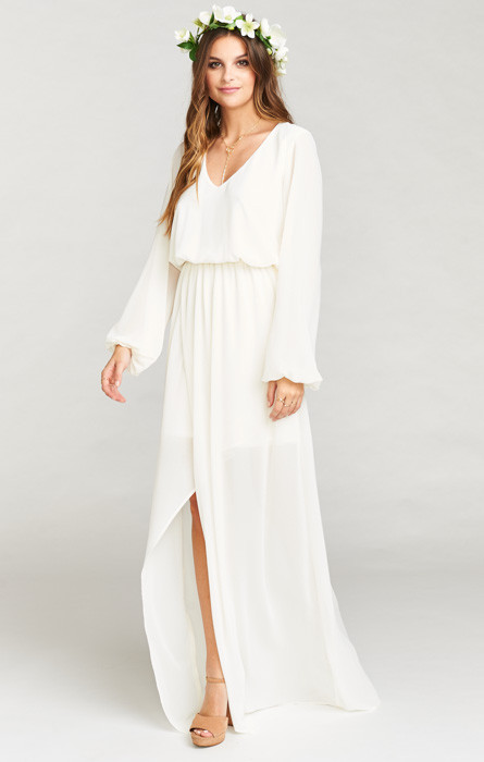 38ba0143aa9 Show Me Your Mumu Jocelyn Maxi Dress in Wedding Cake Chiffon