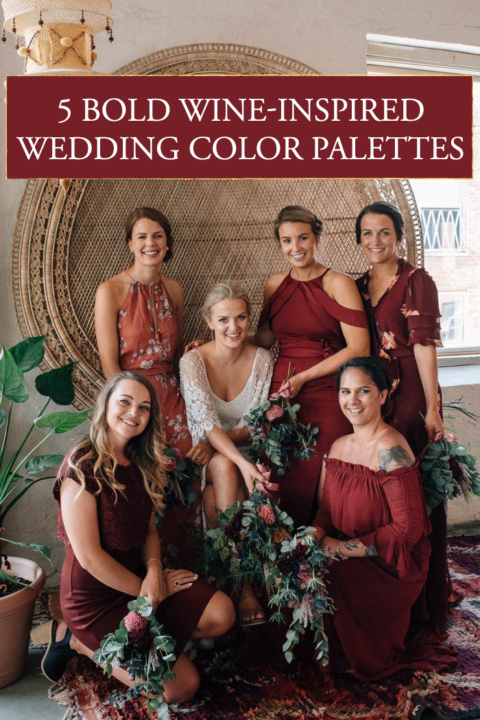 5 Bold Wine Inspired Wedding Color Palettes for Vino Lovers