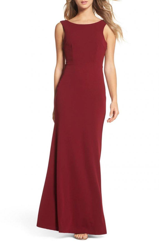 2b9f827d 50 Beautiful Burgundy Bridesmaids Dresses Your Girls Will Love ...