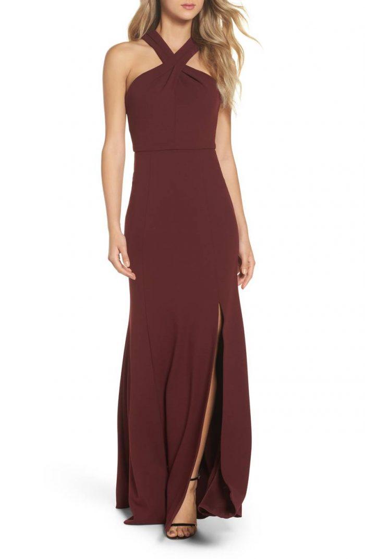ecf949c747 50 Beautiful Burgundy Bridesmaids Dresses Your Girls Will Love ...