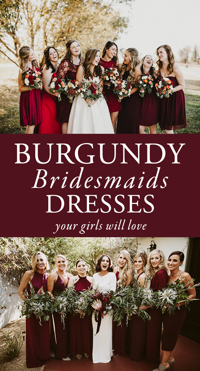 0b06328af1b 50 Beautiful Burgundy Bridesmaids Dresses Your Girls Will Love ...