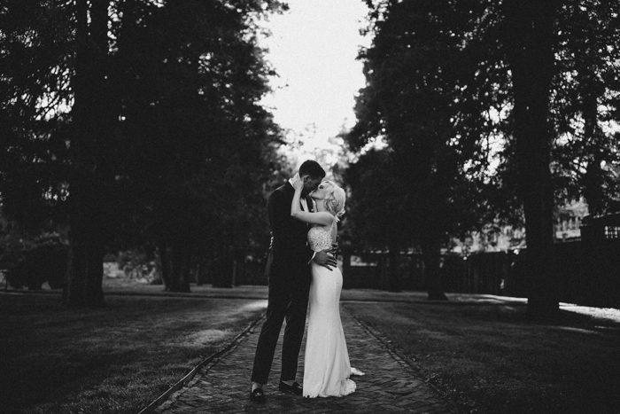 This Dark Massachusetts Wedding at Turner Hill Didn't Shy