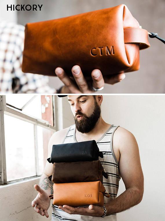 c00f613e06 Monogrammed Leather Dopp Kit by PortlandLeather