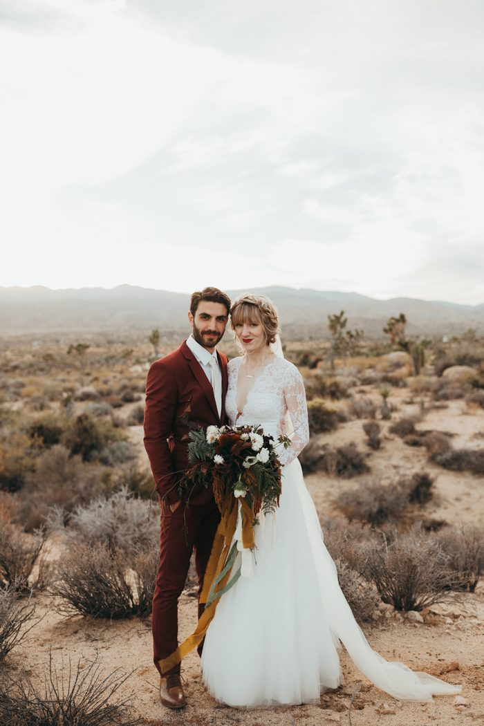 This Joshua Tree Wedding At Pipes Canyon Lodge Was Rich With Desert