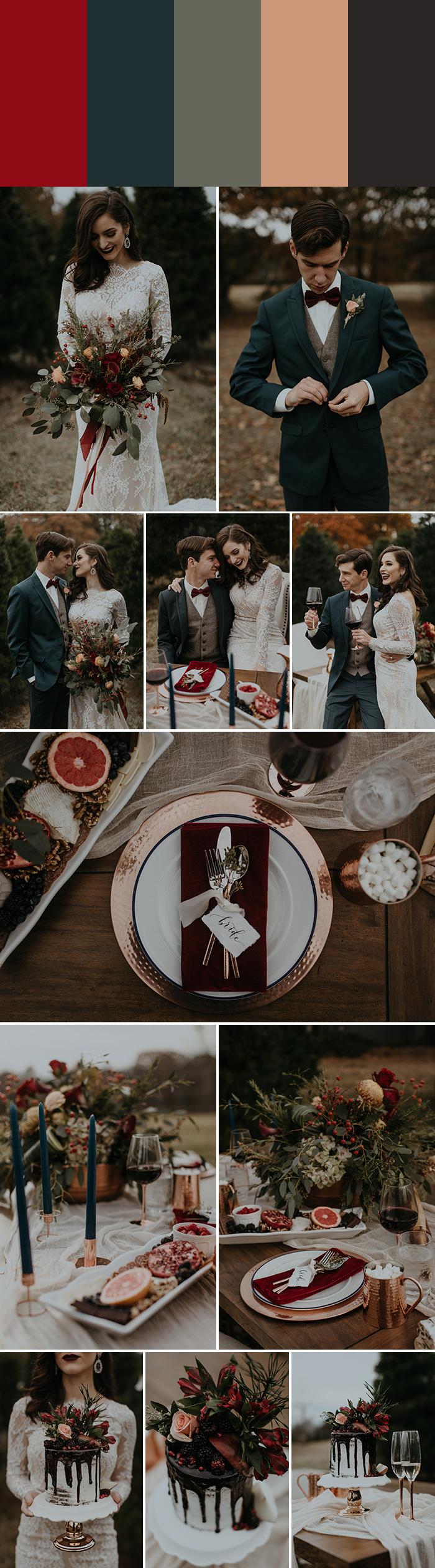 Christmas Wedding Colors.5 Palette Ideas For Winter Wedding Colors Junebug Weddings