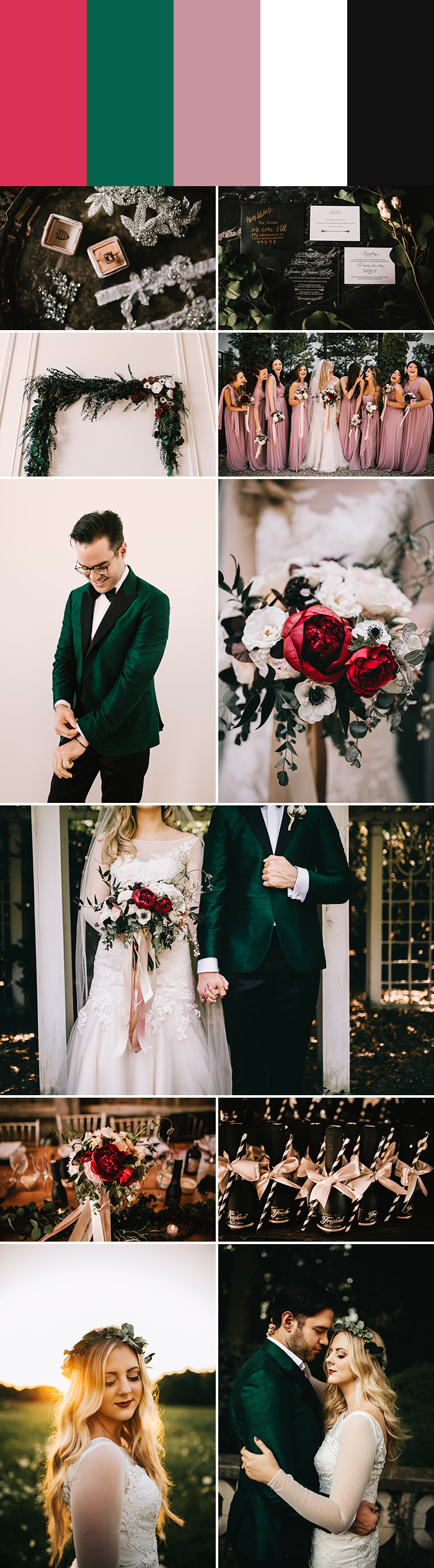 5 palette ideas for winter wedding colors junebug weddings event stationery design chelsea seekell floral design by posh petals grooms apparel by ak rikks see more from this wedding here junglespirit Choice Image