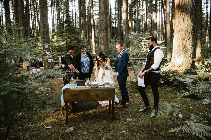 This Couple Exchanged Vows In An Intimate Forest Wedding