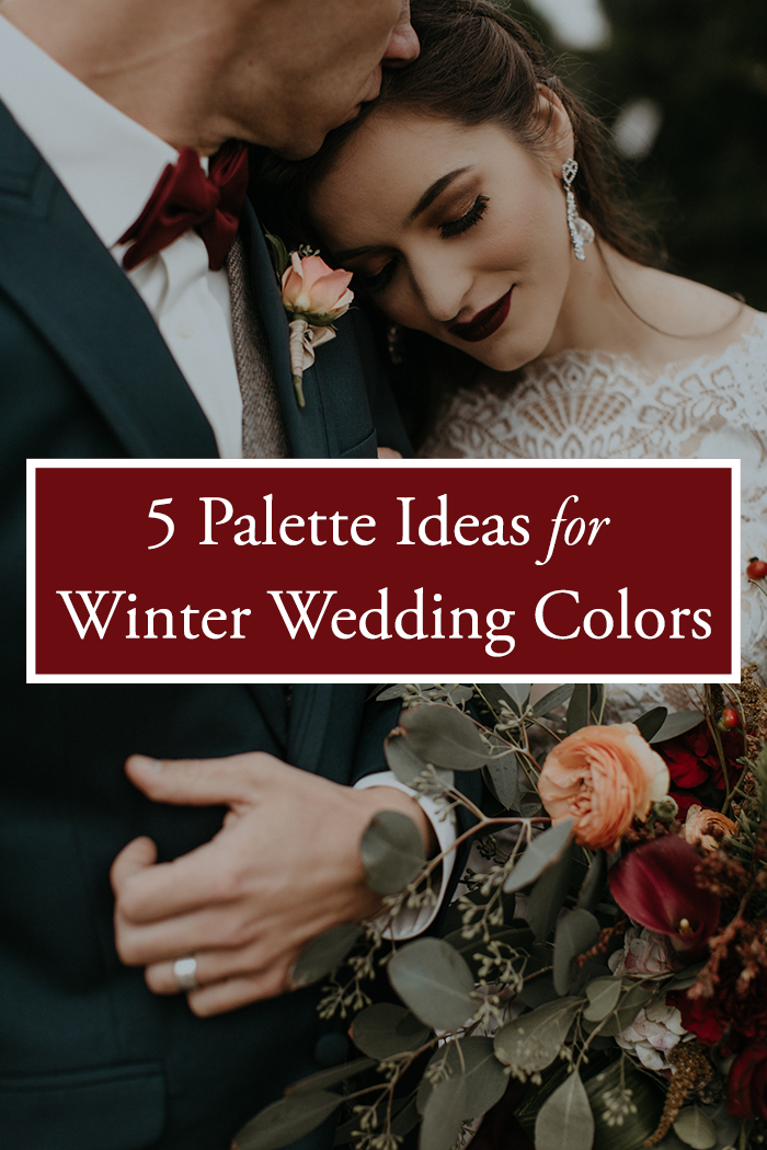 5 palette ideas for winter wedding colors junebug weddings photo by b matthews creative junglespirit Images