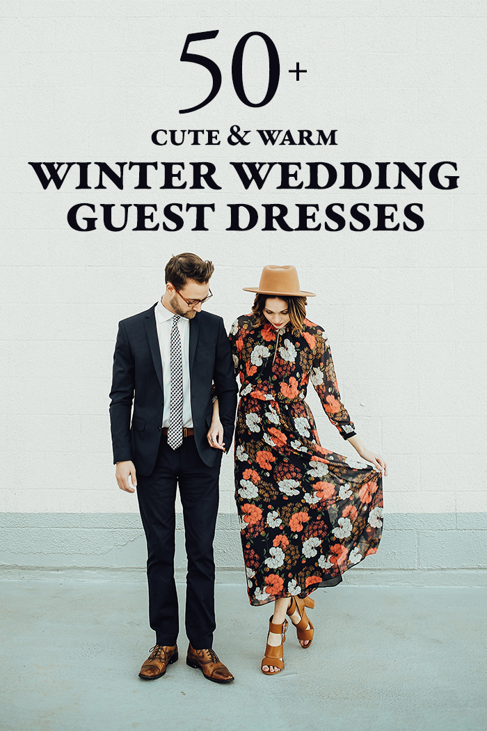 Cute and Warm Winter Wedding Guest Dresses