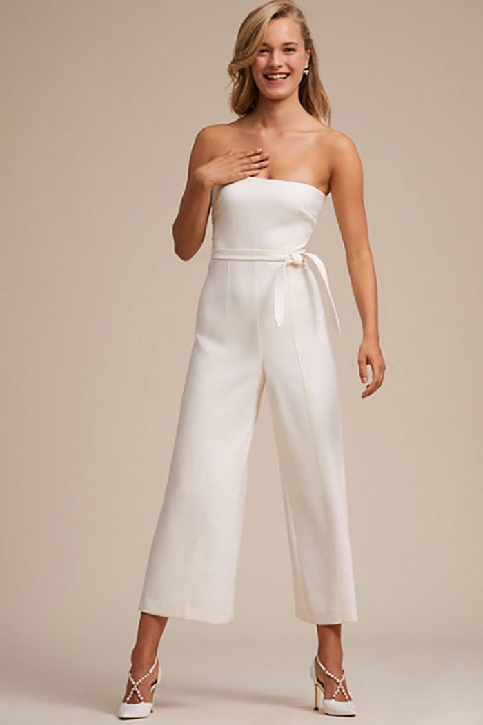 Bridal Jumpsuits Perfect for the Nontraditional Bride | Junebug Weddings
