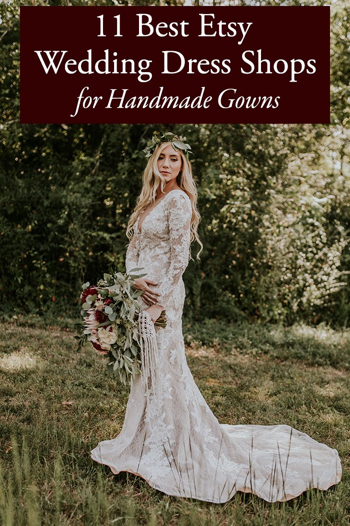 11 best etsy wedding dress shops for handmade gowns