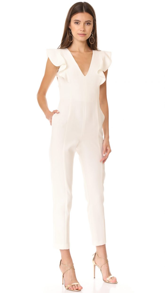 Bridal Jumpsuits Perfect For The Nontraditional Bride Junebug Weddings