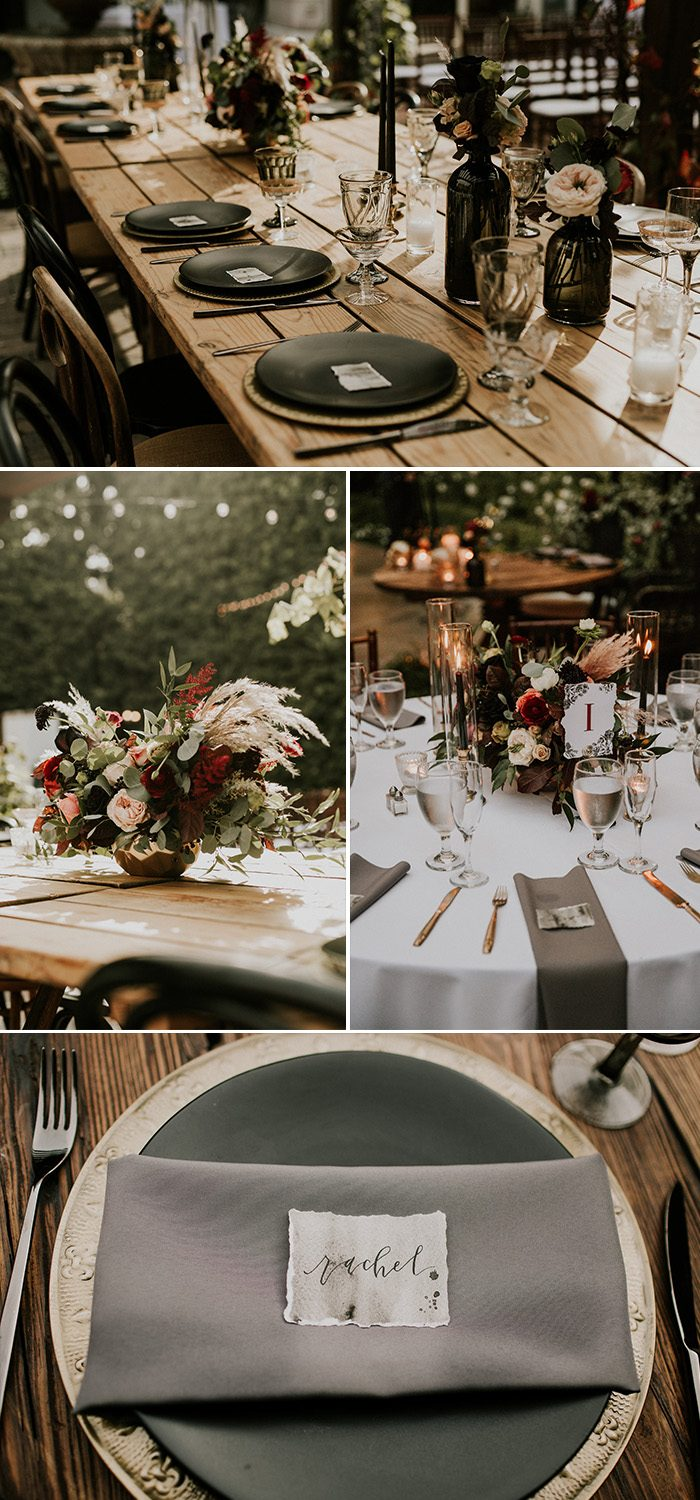 this glam franciscan gardens wedding takes 'til death do us