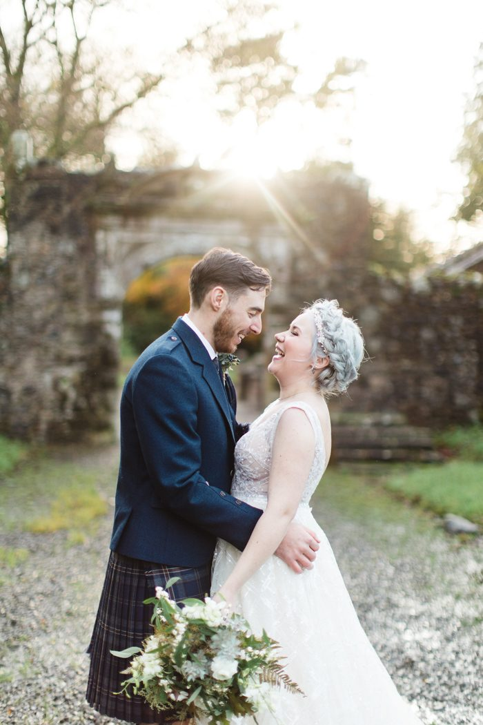 Modern Scottish Winter Wedding At Rowallan Castle