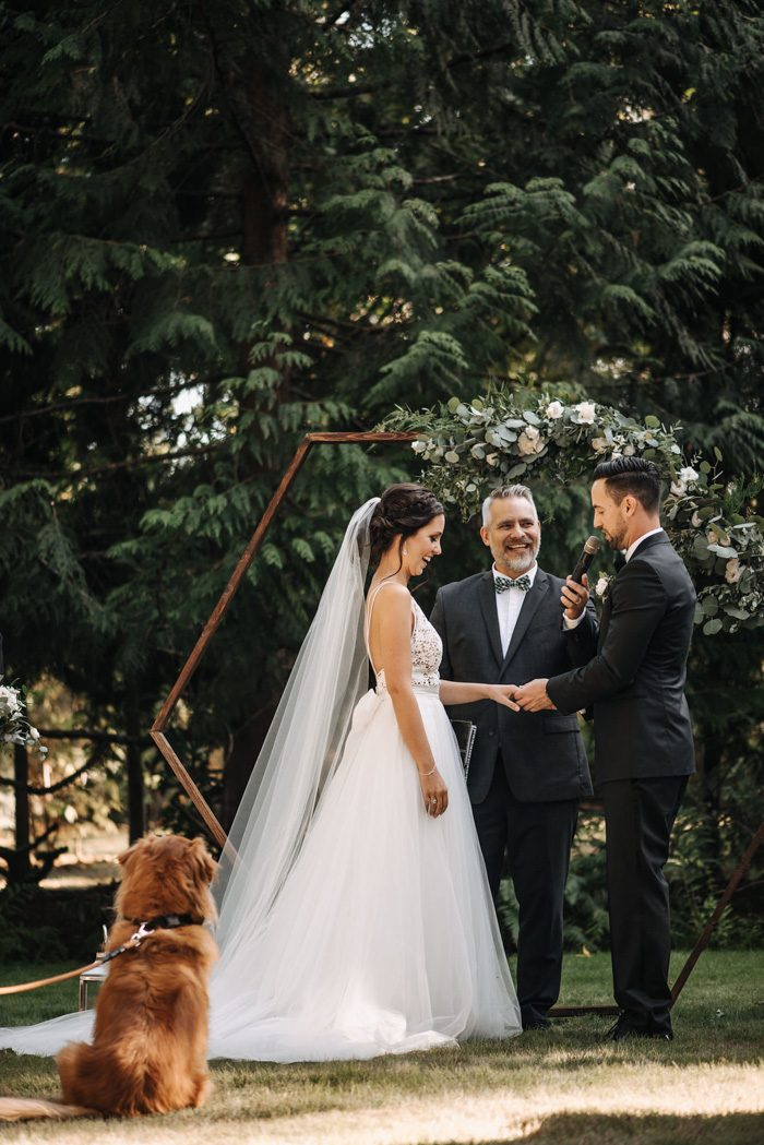 Sophisticated Black and White Vancouver Backyard Wedding ...