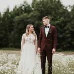 This Burgundy and Olive Wedding at Nitaures Dzirnavas in Latvia is Pure Eye Candy