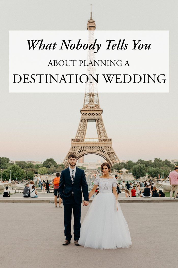 What no one tells you about planning a destination wedding for Plan a destination wedding