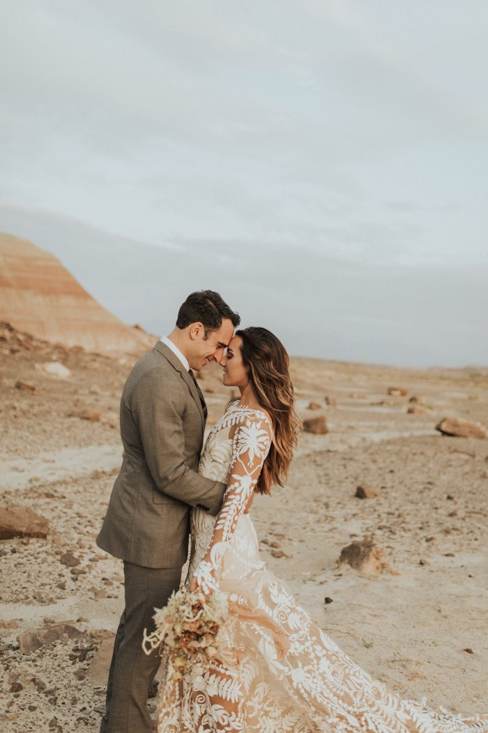 We Have To Admit That A Soft Spot For Desert Weddings So Mallory And Brian S Intimate Wedding At Moab Under Canvas Stole Every Piece Of Our Hearts