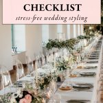 Use This Wedding Reception Table Checklist for Stress-Free Styling