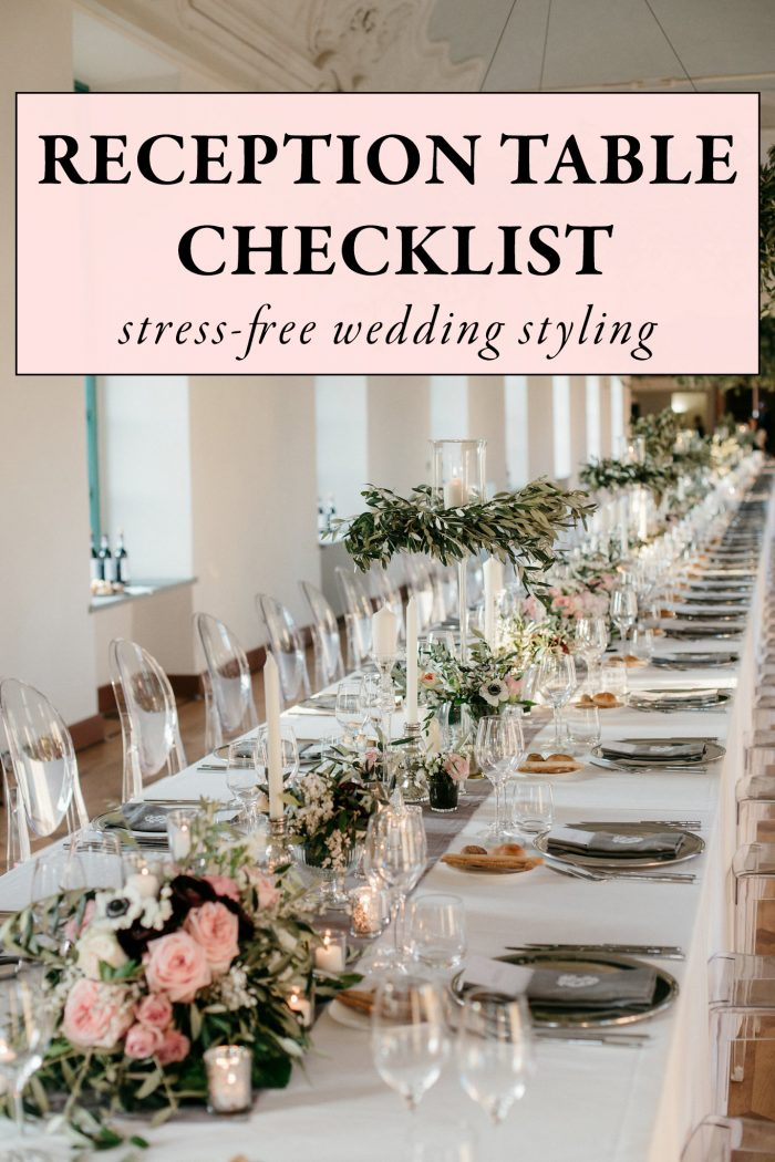 Use This Wedding Reception Table Checklist For Stress Free Styling