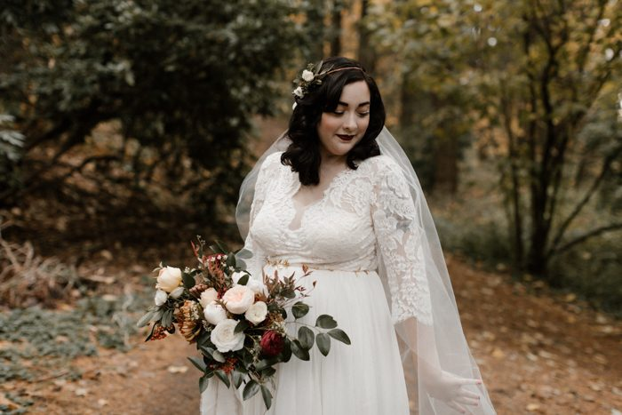 This Evergreen Pdx Wedding Has The Prettiest Autumnal